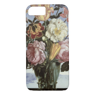 Still life of flowers in a drinking glass iPhone 7 case