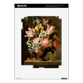 Still Life of Flowers in a Vase with a Lizard on a iPad 3 Skin