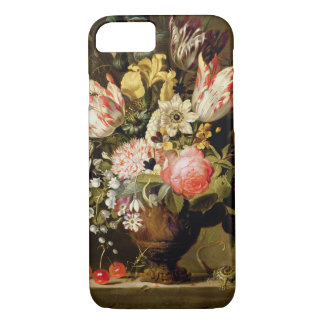 Still Life of Flowers in a Vase with a Lizard on a iPhone 7 Case