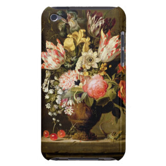 Still Life of Flowers in a Vase with a Lizard on a iPod Case-Mate Case