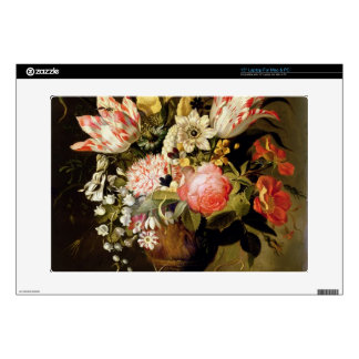 """Still Life of Flowers in a Vase with a Lizard on a Skin For 15"""" Laptop"""