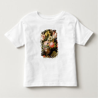 Still Life of Flowers in a Vase with a Lizard on a Toddler T-shirt