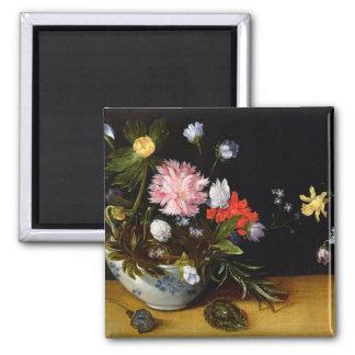 Still Life of Flowers Magnet