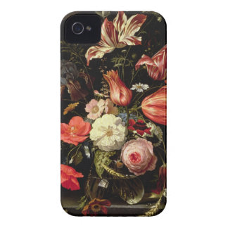 Still Life of Flowers on a Ledge iPhone 4 Case-Mate Case