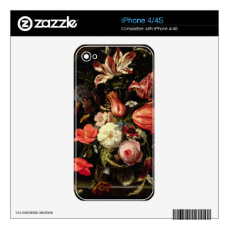 Still Life of Flowers on a Ledge iPhone 4S Skins