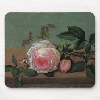 Still Life of Flowers on a Ledge Mouse Pad