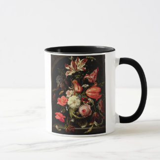 Still Life of Flowers on a Ledge Mug