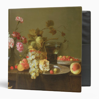 Still Life of Fruit and Flowers 3 Ring Binder
