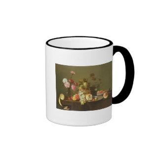 Still Life of Fruit and Flowers Coffee Mug