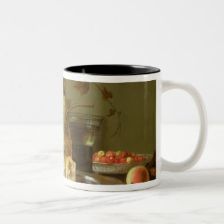 Still Life of Fruit and Flowers Two-Tone Coffee Mug