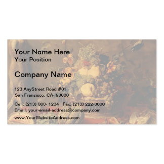 Still Life of Fruit in a Basket  by Frans Snyders Business Card