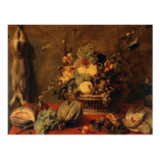 Still Life of Fruit in a Basket  by Frans Snyders Postcard