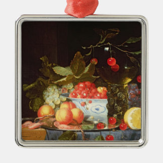 Still Life of Fruit Metal Ornament