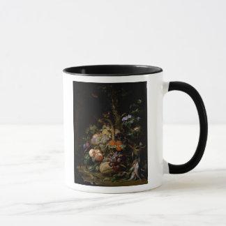 Still life of fruit mug