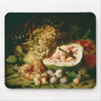 Still Life of Fruit on a Ledge Mouse Pad