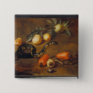 Still Life of Fruits from Surinam and Reptiles Pinback Button