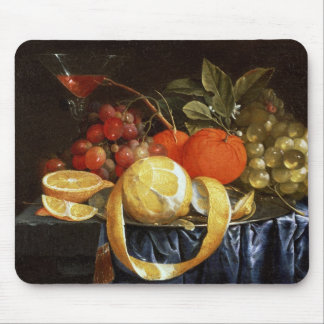 Still Life of Grapes, Oranges and a Peeled Lemon Mouse Pad