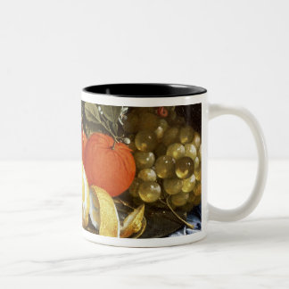 Still Life of Grapes, Oranges and a Peeled Lemon Two-Tone Coffee Mug