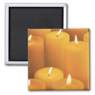 Still life of lighted candles magnet