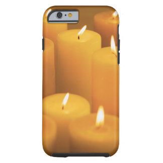 Still life of lighted candles tough iPhone 6 case