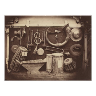 Still Life of Musical Instruments Poster