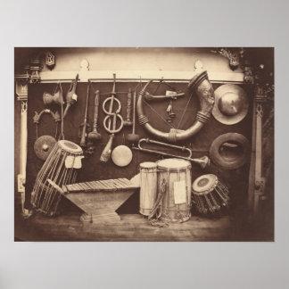 Still Life of Musical Instruments Poster