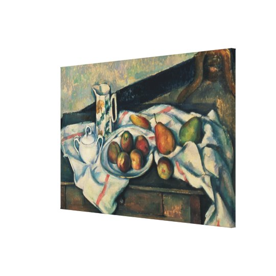 Still Life of Peaches and Pears, 1888-90 Canvas Print