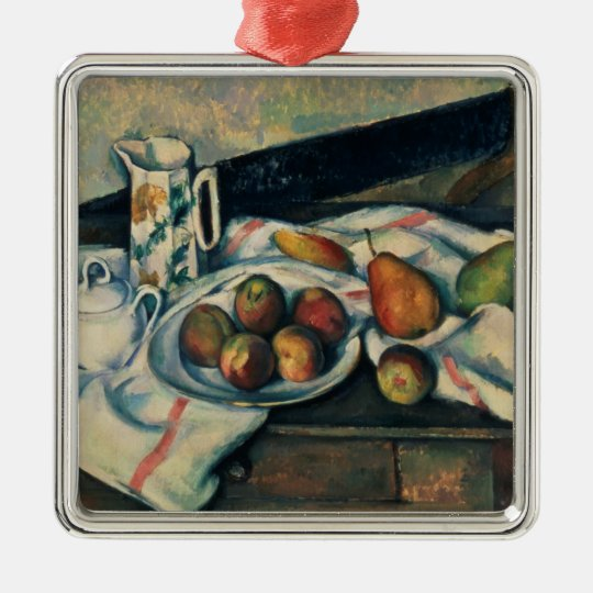 Still Life of Peaches and Pears, 1888-90 Metal Ornament
