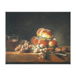 Still Life of Peaches, Nuts, Grapes Gallery Wrapped Canvas
