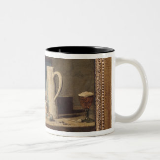 Still Life of Pipes and a Drinking Glass Two-Tone Coffee Mug