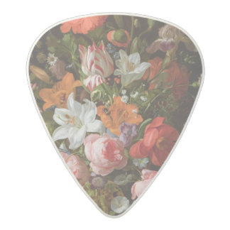 Still life of roses  lilies, tulips acetal guitar pick