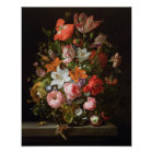 Still life of roses  lilies, tulips poster