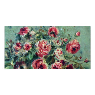 Still Life Of Roses Vargemont By Pierre-Auguste Photo Card