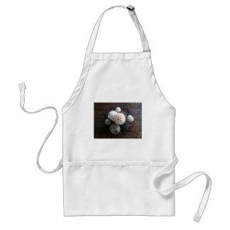 still life of round centerpiece adult apron
