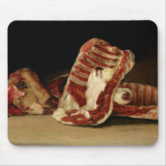 Still life of Sheep's Ribs and Head Mouse Pad