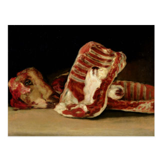 Still life of Sheep's Ribs and Head Post Cards