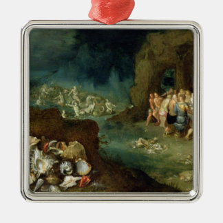Still life of shells with the Feast of the Gods Metal Ornament