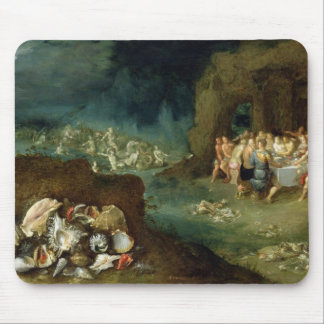 Still life of shells with the Feast of the Gods Mouse Pad