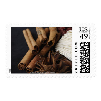 Still life of star anise and noodles postage