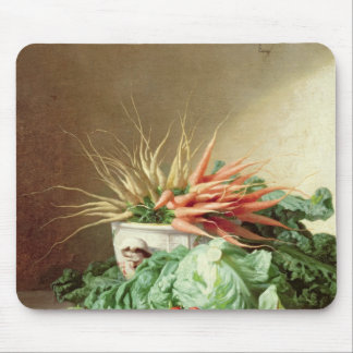 Still Life of Strawberries Carrots and Cabbage Mouse Pad
