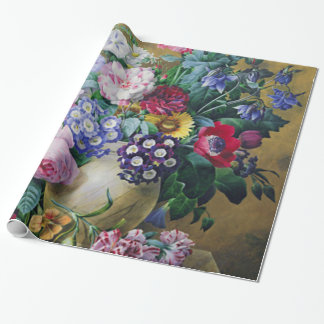 Still Life of Summer Flowers Wrapping Paper