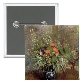 Still Life of Wild Flowers 2 Inch Square Button