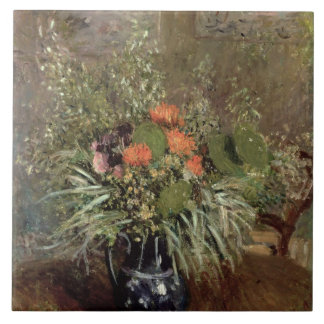 Still Life of Wild Flowers Large Square Tile