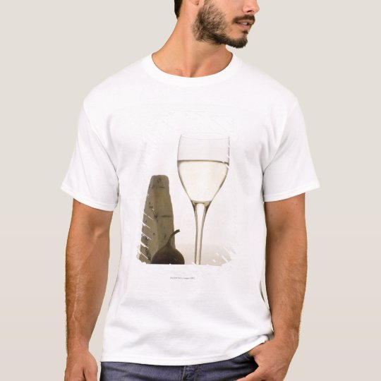 Still life of wine, cheese and fig T-Shirt