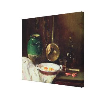 Still Life (oil on panel) 2 Canvas Print
