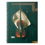 Still Life Old Violin, Harnett, Vintage Victorian Journals