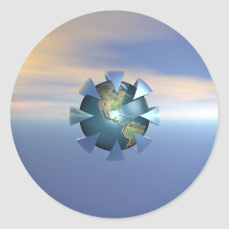 Still Life On Earth Classic Round Sticker