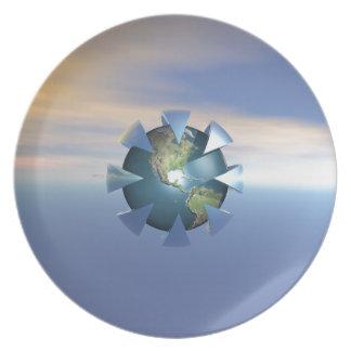 Still Life On Earth Melamine Plate