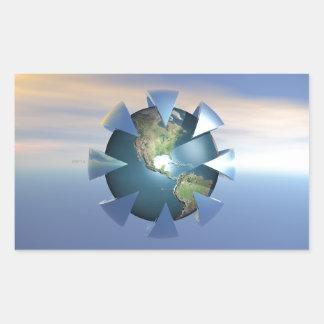 Still Life On Earth Rectangular Sticker