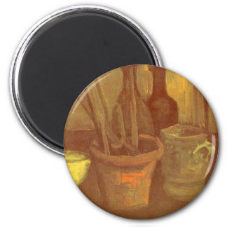 Still Life Paintbrushes in a Pot Vincent van Gogh Magnet